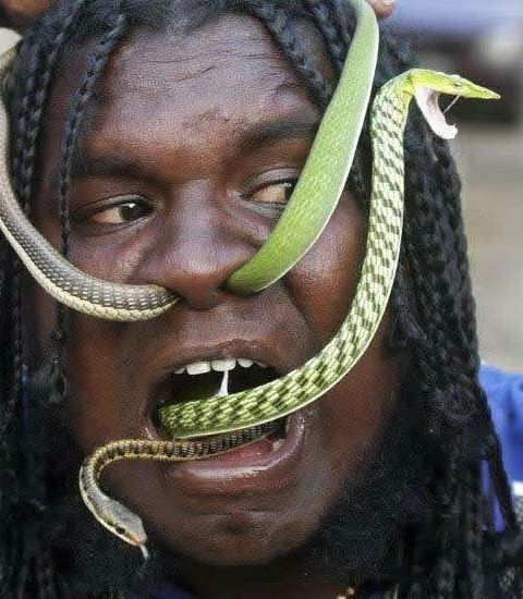 Crazy-snake-man
